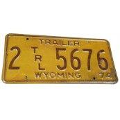 Plaque minéralogique Américaine Authentique état du Wyoming