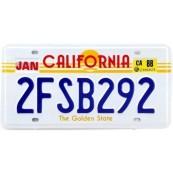 Plaque d'immatriculation Américaine California Golden State