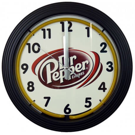 Horloge néon Dr Pepper