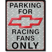 Plaque publicitaire chevy Racing Parking