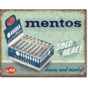 Plaque publicitaire Mentos - sold here