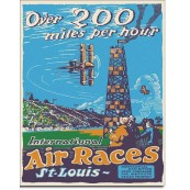 Plaque publicitaire métal Saint Louis Air Races