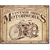 Plaque métal décorative Vintage Iron Motorworks