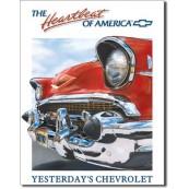 Plaque publicitaire métal Chevy Heartbeat