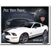 Plaque publicitaire Shelby Mustang