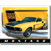 Plaque métal Ford Mustang Boss