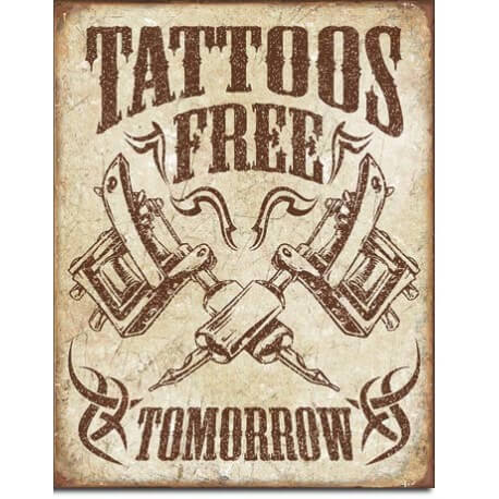 Plaque décorative Tattoos Free Tomorrow