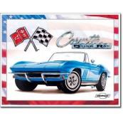 Plaque métal Corvette Stingray