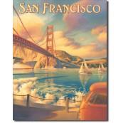 Plaque métal décorative Golden Gate