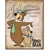 Plaque métal yogi Bear