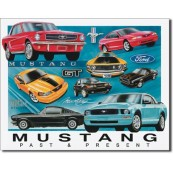 Plaque décorative Ford Mustang chronology