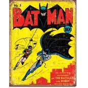 Plaque déco Batman N°1 cover