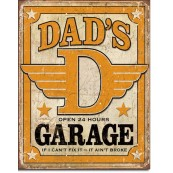 Plaque publicitaire Dad's Garage
