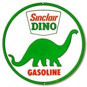 Plaque publicitaire métal ronde Sinclair
