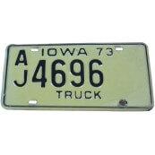 Plaque d'immatriculation Américaine collection Etat de l'Iowa