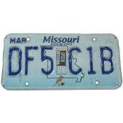 Plaque d'immatriculation Américaine Etat du Missouri