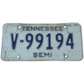 Plaque d'immatriculation Américaine collection Etat du Tennessee