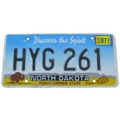 Plaque d'immatriculation Américaine collection Etat du Dakota
