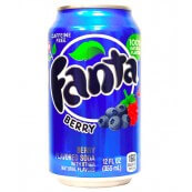 Soda Fanta Berry : Myrtille - Framboise