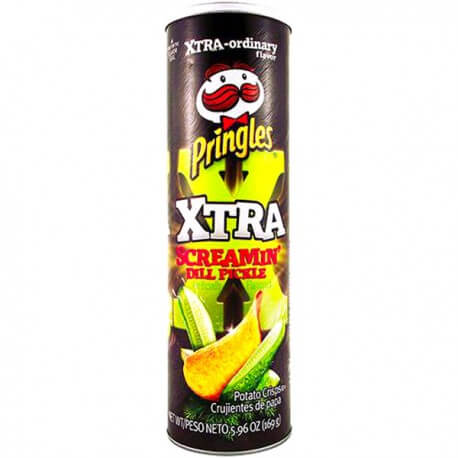 Chips Pringles screamin' dill pickle