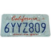 Plaque d'immatriculation Américaine collection Etat de la Californie