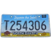Plaque d'immatriculation Dakota du Nord