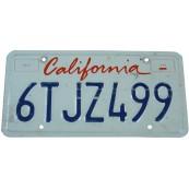 Plaque minéralogique Américaine Californie