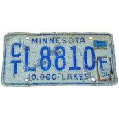 Plaque authentique collection vintage Minnesota