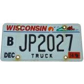 Plaque minéralogique Américaine Authentique état du Wisconsin