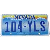Plaque minéralogique Américaine Etat du Nevada