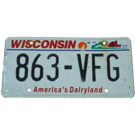 Plaque Américaine Wisconsin