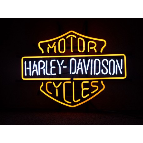 Enseigne néon lumineuse Harley Davidson