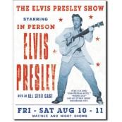 Plaque décorative métal Elvis Presley Show