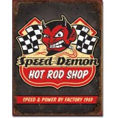 Plaque Speed Demon Hot Rod Shop