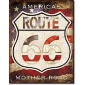 Plaque métal Route 66 - America's Road