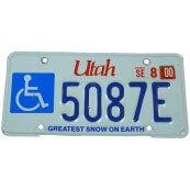 Plaque d'immatriculation Américaine Utah