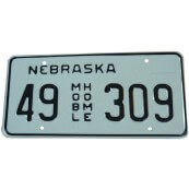 Plaque Nebraska Mobile Home