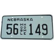 Plaque immatriculation Nebraska mobile Home