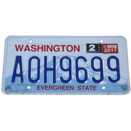 Plaque d'immatriculation Américaine collection Etat de Washington