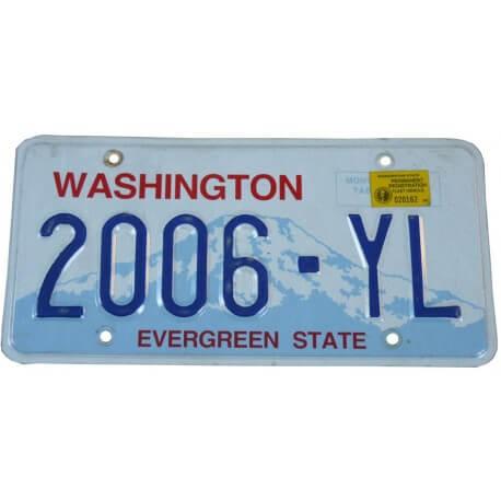 Plaque immatriculation Américaine Washington