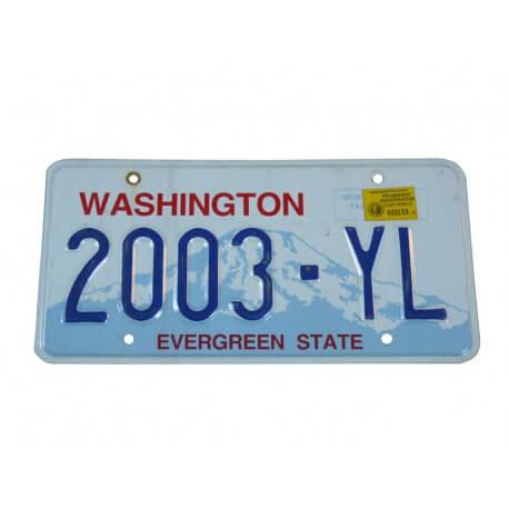 Plaque immatriculation Américaine Etat de Washington