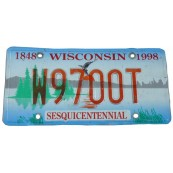 Plaque immatriculation métal Wisconsin