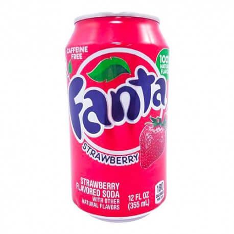 Soda Fanta Strawberry : Goût Fraise