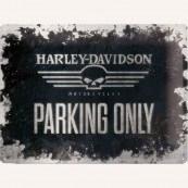Plaque métal Harley Davidson motorcycles