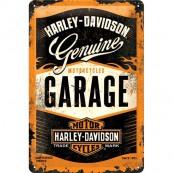Plaque déco Harley Davidson Motorcycles Garage