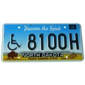 Plaque d'immatriculation North Dakota