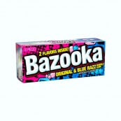 Bazooka Chewing gum original & blue razz