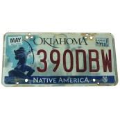 Plaque immatriculation Etat de l'Oklahoma