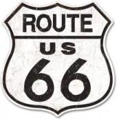 Panneau métal Route 66 GRAND FORMAT