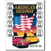 Plaque Route 66 America's Highway